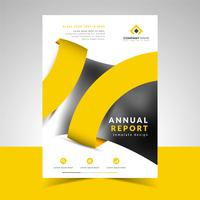 Sjabloon voor creatief zakelijk jaarverslag