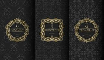 Set luxe zwarte sjablonen vector