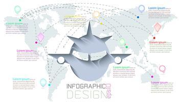 Infographic op wereldkaarten communicatie vector