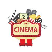 Cinema-elementen vector