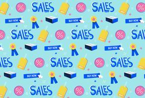 hand getrokken verkoop promotie patroon achtergrond