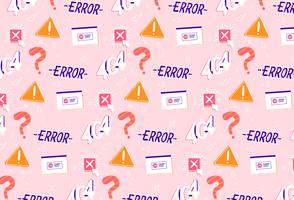 hand getrokken fout probleem oplossing patroon achtergrond vector