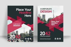 Stad achtergrond ontwerpsjabloon voor zakelijke boekomslag