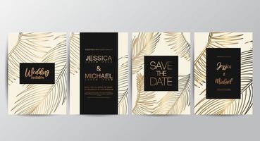 Premium Tan luxe bruiloft uitnodigingskaarten