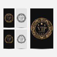 VIP premium luxe kaart vector