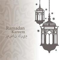 Ramadan Kareem islamitische groet met lantaarns vector