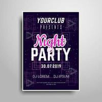 Nacht feest verticale flyer sample