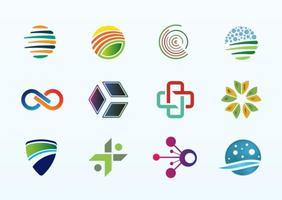 Logo element mix vector