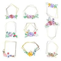 set floral frames met ruimte voor tekst