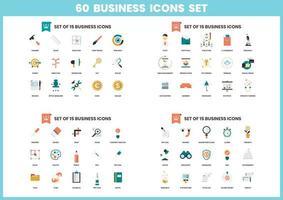 60 pictogrammen bedrijfs van de set