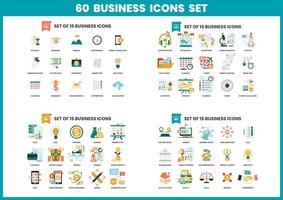 Pictogrammen bedrijfs ingesteld voor het bedrijfsleven