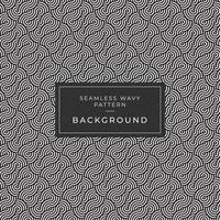 Geometrisch naadloos zwart-wit het herhalen patroon met golvende lijnen vector