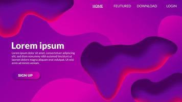 Abstracte gradiënt vloeiende paarse moderne achtergrond