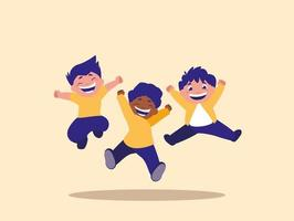 Groep springende kinderen vector
