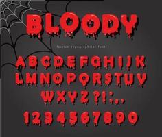 Halloween bloed lettertype vector