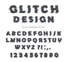 Glitch lettertype ontwerp