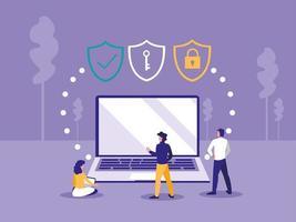 Beveiligingsslot op laptop