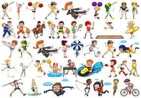 Set van sport atleten