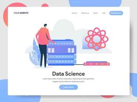 Data Science Illustratie Concept vector