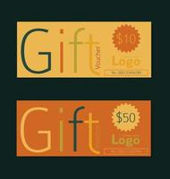 Sjablonen voor cadeaubonnen in vintage stijl vector