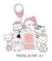 Reizen is leuk Baby dieren wenskaart