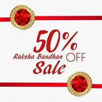Webverkoop Raksha Bandhan decoratieve advertentie vector