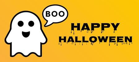 Vliegende Geest Happy Halloween Poster