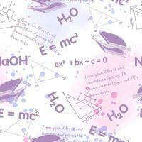Naadloos vectorpatroon op het thema van kennis, onderwijs vector