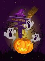 Halloween-elementen vector