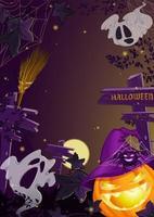 Verticale sjabloon folder voor Halloween