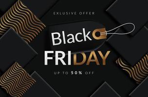 Black Friday uitverkoop black tag vector