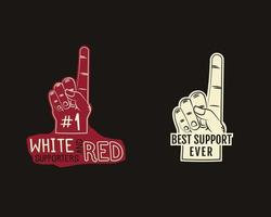 Schuimvinger supporters Amerikaans voetbalelement - waaiervinger vector