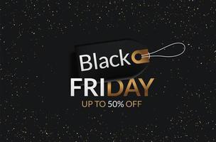 Black Friday uitverkoop tag vector