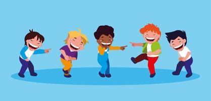gelukkige kleine jongens april dwazen dag kaart