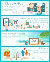 Voordelen om freelancer infograph te worden vector
