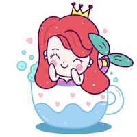 Kleine zeemeermin in cup