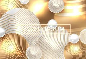 Gouden glanzende perl-achtergrond vector