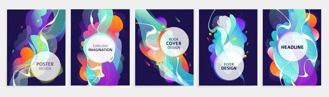 Set van abstracte flyer of dekking ontwerpen