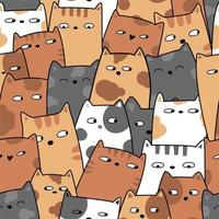 schattige baby kat cartoon - naadloos patroon