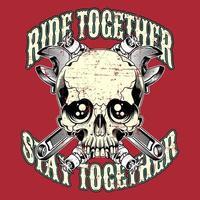 T-shirt ontwerp sjabloon Riders vector