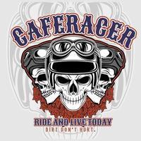 T-shirt ontwerpsjabloon Racer