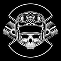 T-shirt ontwerpsjabloon Retro schedel