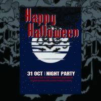 Halloween feest sjabloon vector
