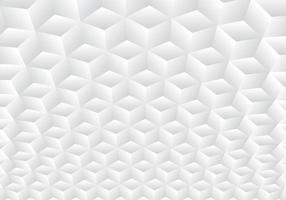 3D realistische geometrische symmetrie wit en grijs verloop vector