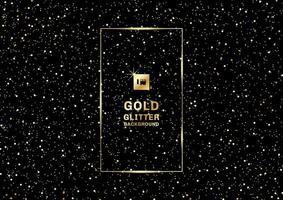 Goud glitter op een zwarte achtergrond en textuur vector