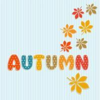 Herfst belettering met herfstbladeren