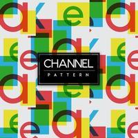 Heldere kanalen kleurrijke vormen naadloze patroon achtergrond