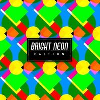 Heldere naadloze het patroonachtergrond van Neon Kleurrijke Vormen