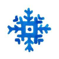 Hand getekend aquarel sneeuwvlok vector