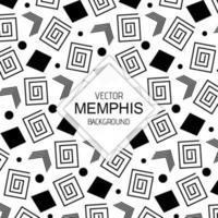 Zwart-witte Memphis-achtergronden